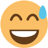 Smiling Face With Open Mouth & Cold Sweat on EmojiOne 1.0
