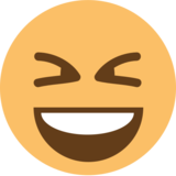 Smiling Face With Open Mouth & Closed Eyes on EmojiOne 1.0