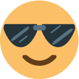 Smiling Face With Sunglasses on EmojiOne 1.0