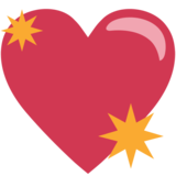 Sparkling Heart on EmojiOne 1.0