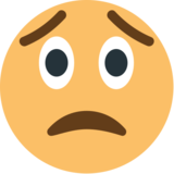 Worried Face on EmojiOne 1.0