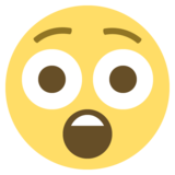 Astonished Face on EmojiOne 2.2