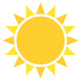 Sun on EmojiOne 2.2