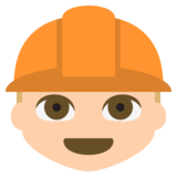 Construction Worker: Medium-Light Skin Tone on EmojiOne 2.2