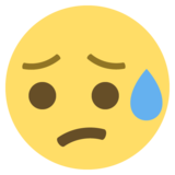 Disappointed but Relieved Face on EmojiOne 2.2