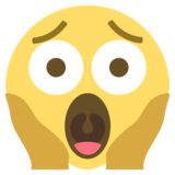 Face Screaming in Fear on EmojiOne 2.2