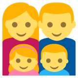 Family: Man, Woman, Girl, Boy on EmojiOne 2.2