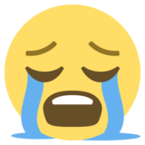 Loudly Crying Face on EmojiOne 2.2