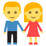 Man and Woman Holding Hands on EmojiOne 2.2