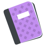 Notebook With Decorative Cover on EmojiOne 2.2