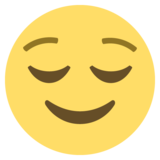 Relieved Face on EmojiOne 2.2