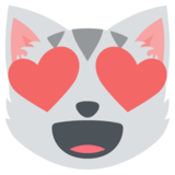 Smiling Cat Face With Heart-Eyes on EmojiOne 2.2