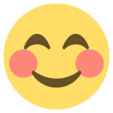 Smiling Face With Smiling Eyes on EmojiOne 2.2