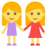 Two Women Holding Hands on EmojiOne 2.2