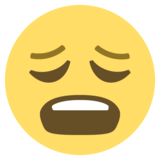 Weary Face on EmojiOne 2.2