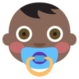 Baby: Dark Skin Tone on EmojiOne 2.2.4