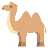Two-Hump Camel on EmojiOne 2.2.4