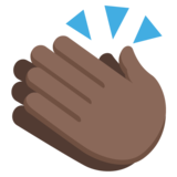 Clapping Hands: Dark Skin Tone on EmojiOne 2.2.4