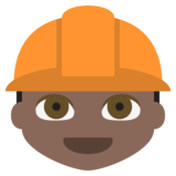 Construction Worker: Dark Skin Tone on EmojiOne 2.2.4