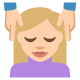 Person Getting Massage: Medium-Light Skin Tone on EmojiOne 2.2.4