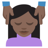 Person Getting Massage: Dark Skin Tone on EmojiOne 2.2.4