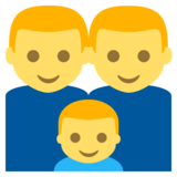 Family: Man, Man, Boy on EmojiOne 2.2.4