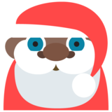 Santa Claus: Dark Skin Tone on EmojiOne 2.2.4
