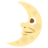 First Quarter Moon With Face on EmojiOne 2.2.4