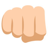 Oncoming Fist: Medium-Light Skin Tone on EmojiOne 2.2.4