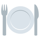 Fork and Knife With Plate on EmojiOne 2.2.4