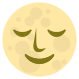 Full Moon With Face on EmojiOne 2.2.4