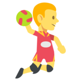 Person Playing Handball on EmojiOne 2.2.4