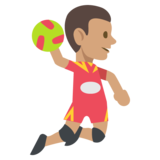 Person Playing Handball: Medium Skin Tone on EmojiOne 2.2.4