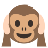 Hear-No-Evil Monkey on EmojiOne 2.2.4