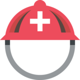 Rescue Worker's Helmet on EmojiOne 2.2.4