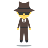 Man in Business Suit Levitating on EmojiOne 2.2.4