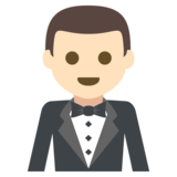 Man in Tuxedo: Light Skin Tone on EmojiOne 2.2.4