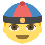 Man With Chinese Cap on EmojiOne 2.2.4