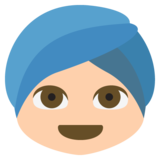 Person Wearing Turban: Medium-Light Skin Tone on EmojiOne 2.2.4