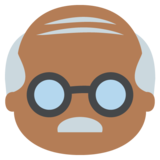 Old Man: Medium-Dark Skin Tone on EmojiOne 2.2.4