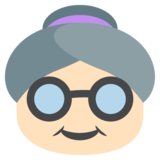 Old Woman: Light Skin Tone on EmojiOne 2.2.4