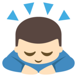 Person Bowing: Light Skin Tone on EmojiOne 2.2.4