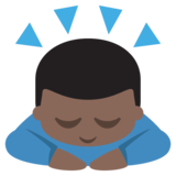Person Bowing: Dark Skin Tone on EmojiOne 2.2.4