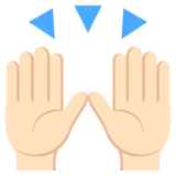 Raising Hands: Light Skin Tone on EmojiOne 2.2.4