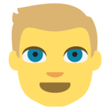 Blond-Haired Person on EmojiOne 2.2.4