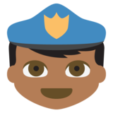Police Officer: Medium-Dark Skin Tone on EmojiOne 2.2.4