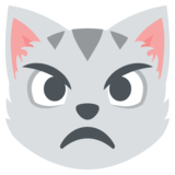 Pouting Cat Face on EmojiOne 2.2.4