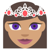 Princess: Medium Skin Tone on EmojiOne 2.2.4