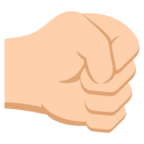 Right-Facing Fist: Medium-Light Skin Tone on EmojiOne 2.2.4