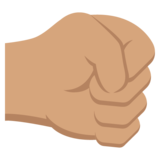 Right-Facing Fist: Medium Skin Tone on EmojiOne 2.2.4